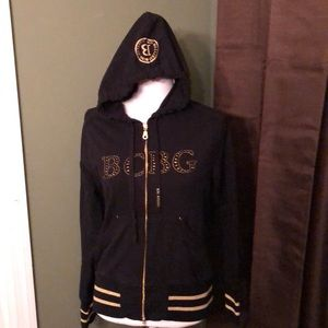 BCBG MaxAzria size L zip up hoodie!